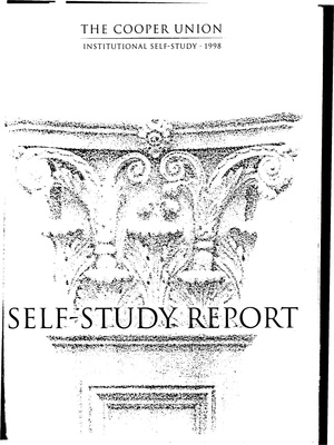 The Cooper Union- Institutional Self-Study Report, 1998.pdf